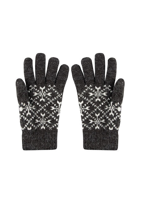 Women's Nordic Gloves, BLACK, hi-res