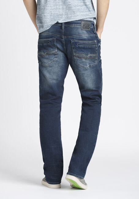 Men's Straight Fit Jeans, DARK WASH, hi-res