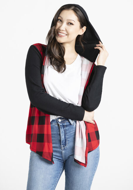 Women's Buffalo Plaid Knit Wrap
