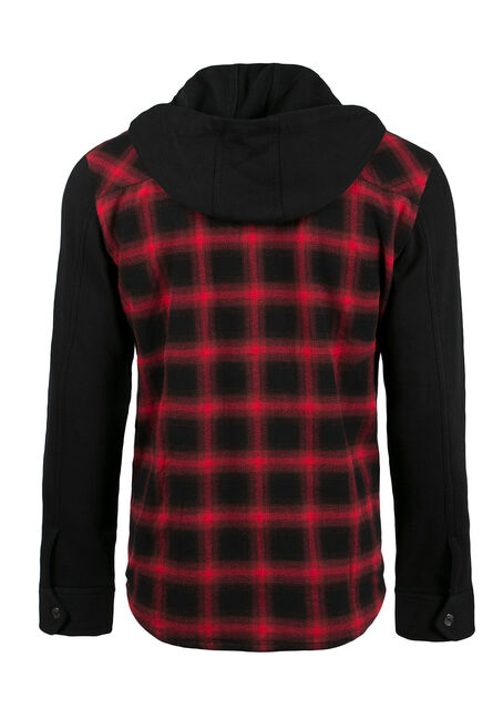 Men's Plaid Jacket, RED, hi-res