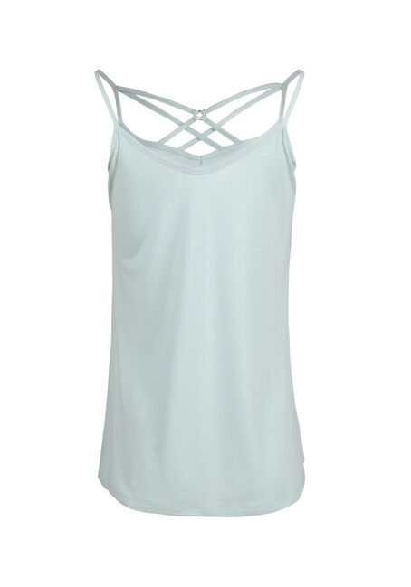 Women's Cage Neck Tank, COOL MINT, hi-res