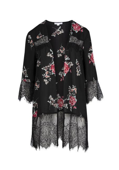 Ladies' Lace Insert Kimono