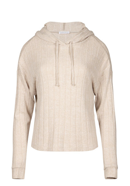 Women's Hooded Wide Rib Top