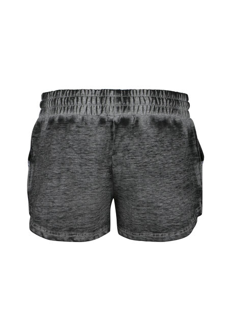 Ladies' Burnout Shortie, BLACK, hi-res