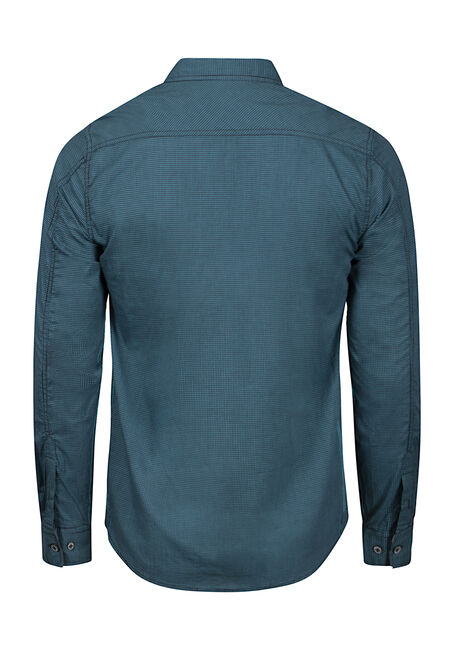 Men's Textured Shirt, TEAL, hi-res