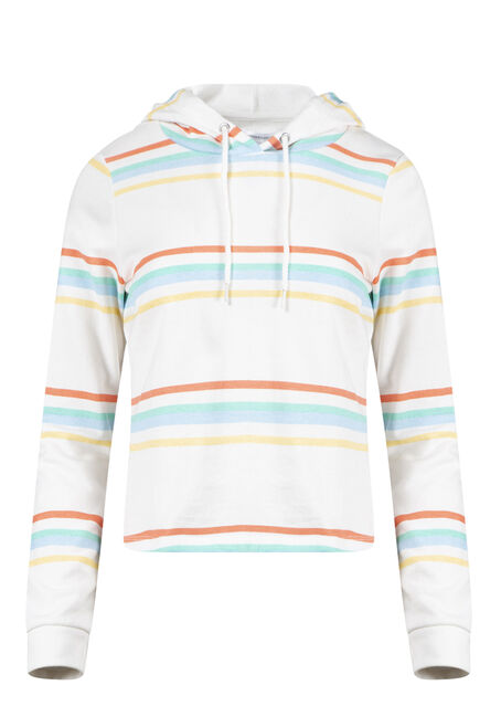 Women's Striped Popover Hoodie