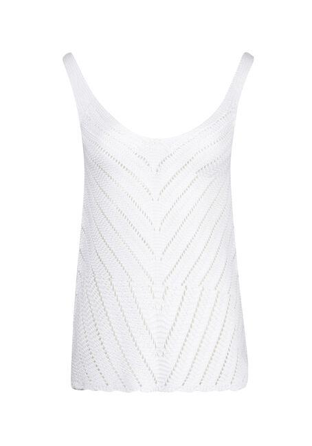Women's Sweater Tank, WHITE, hi-res