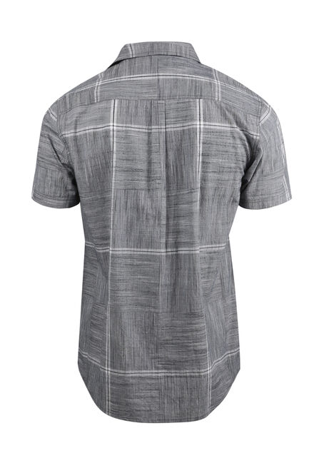 Men's Relaxed Plaid Shirt, GREY, hi-res