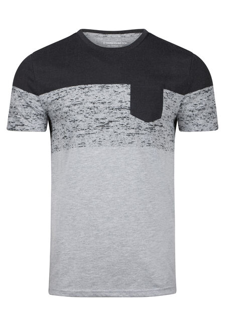 Men's Colour Block Pocket Tee