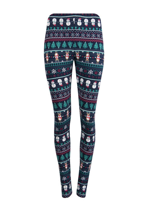 Ladies' Holiday Legging, NAVY, hi-res