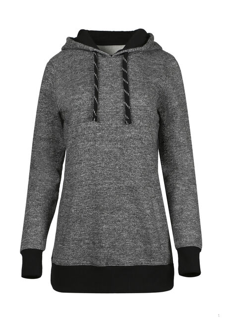 Ladies' Textured Tunic Hoodie