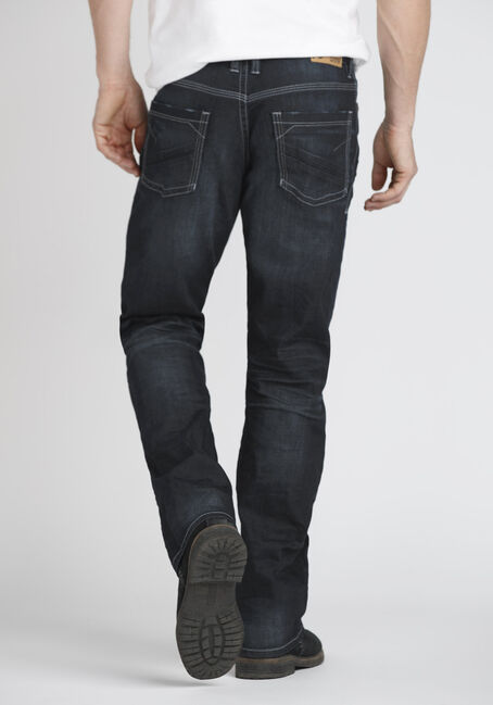 Men's Loose Fit Jeans, DARK WASH, hi-res