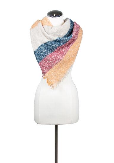 Women's Colour Block Blanket Scarf, MULTI, hi-res