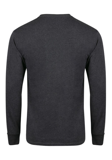Men's Crew Neck Tee, DARK HEATHER, hi-res