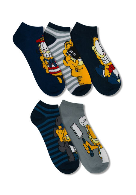 Men's 5 Pair Garfield Socks