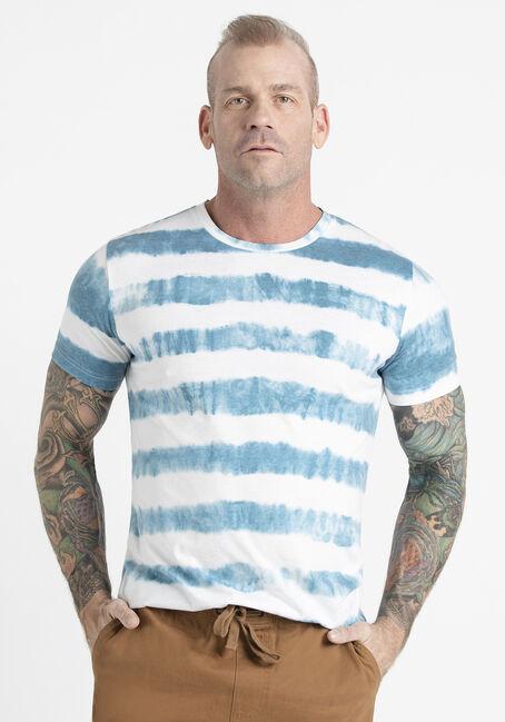 Men's Stripe Tie Dye Tee