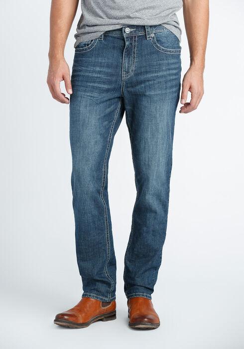 Men's Athletic Fit Jeans, MEDIUM VINTAGE WASH, hi-res