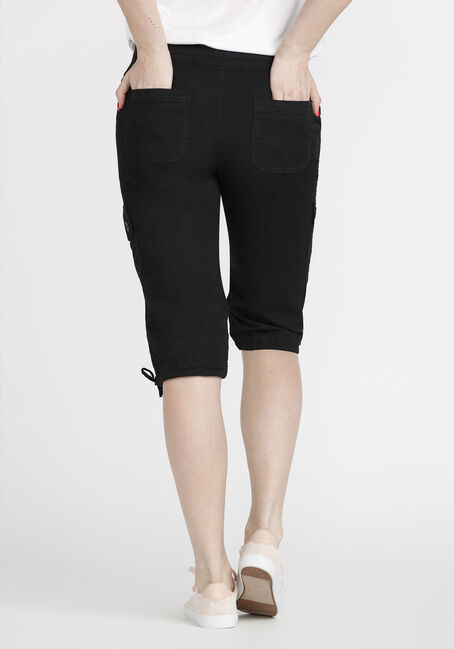 Women's Cargo Capri, BLACK, hi-res