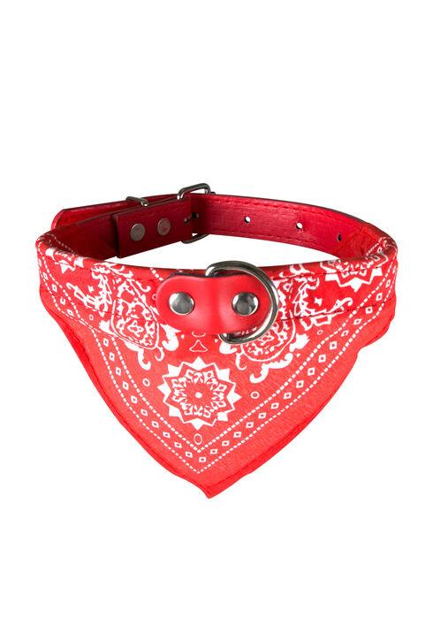 Bandana Pet Collar, RED, hi-res