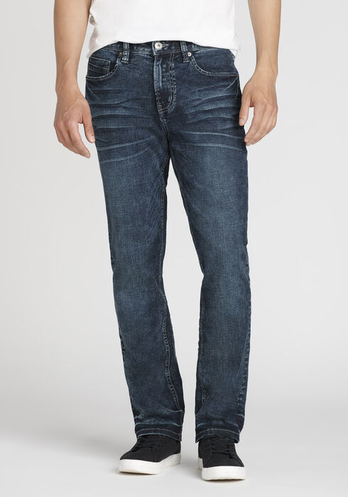 Men's Slim Straight Jeans, DARK WASH, hi-res