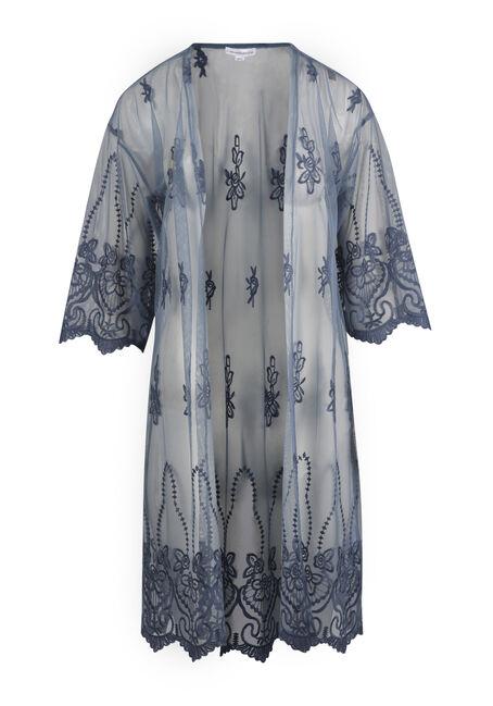Ladies' Embroidered Kimono Duster