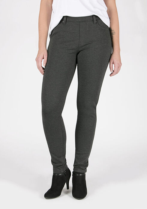 Ladies' Skinny Pants, CHARCOAL, hi-res