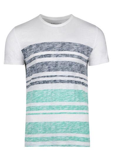 Men's Everyday Stripe Tee, AQUA GREEN, hi-res