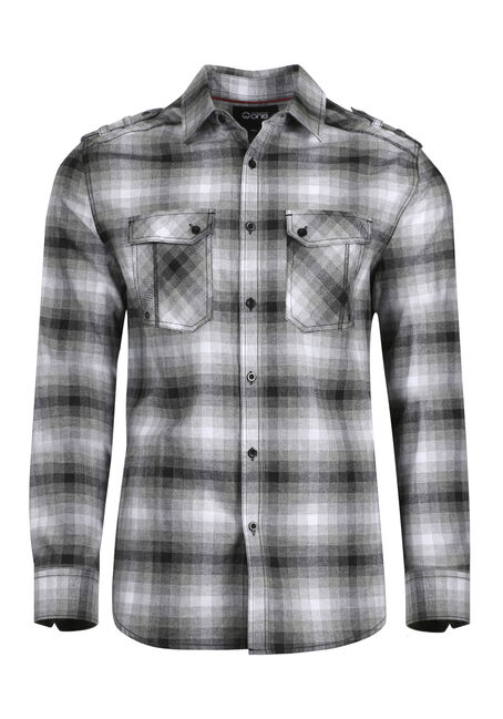 Men's Shadow Plaid Flannel Shirt
