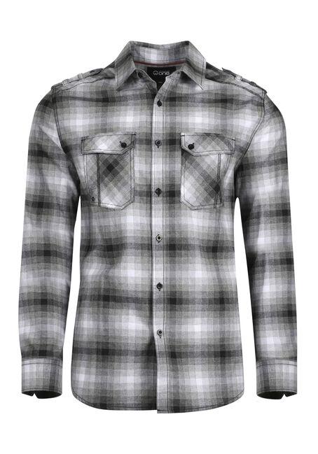 Men's Shadow Plaid Flannel Shirt