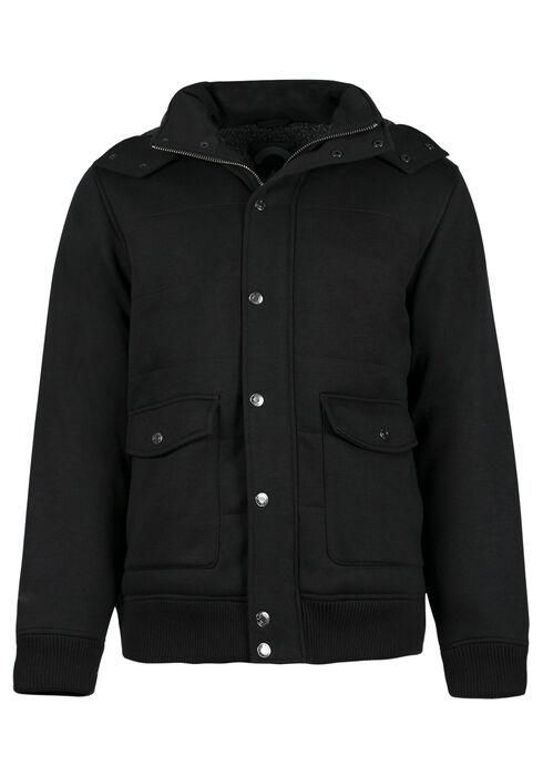 Men's Sherpa Lined Jacket, BLACK, hi-res