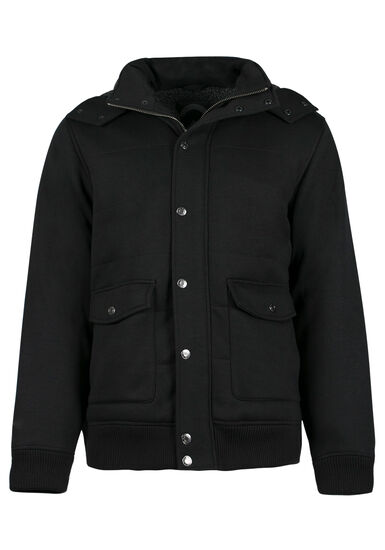 Men's Sherpa Lined Jacket, BLACK, hi-res
