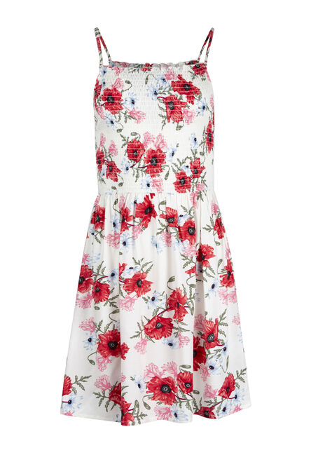 Ladies' Floral Smocked Dress