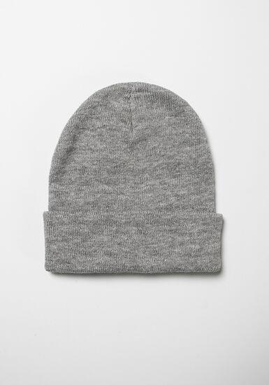 Men's Ribbed Hat, GREY, hi-res