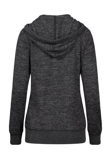Women's Super Soft Zip Front Hoodie, BLACK MIX, hi-res