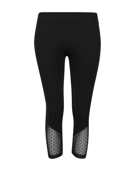 Ladies' Swiss Dot Capri Legging