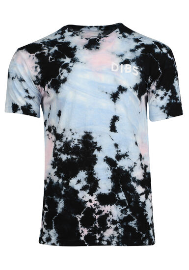 Men's Tie Dye Tee, BLACK, hi-res