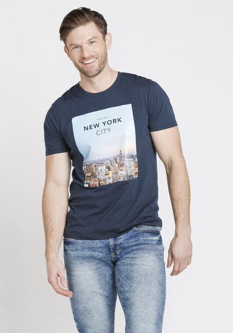 Men's New York Tee, NAVY, hi-res