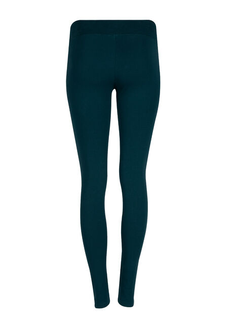 Ladies' Wide Waist Legging, TEAL, hi-res