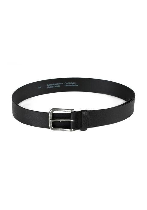 Men's Essential Leather Belt, BLACK, hi-res