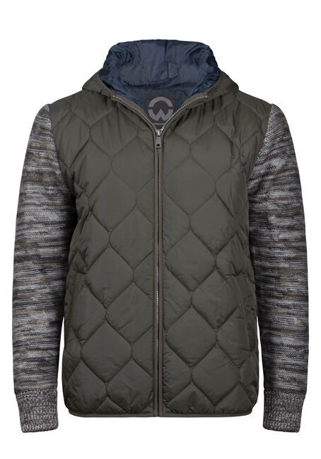 Men's Quilted Knit Sleeve Jacket