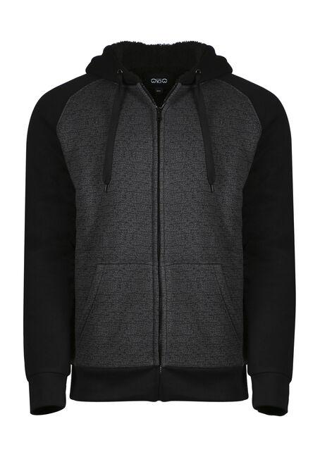 Men's Fur Lined Zip Front Hoodie