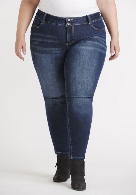 Women's Plus High Rise 2 Button Skinny