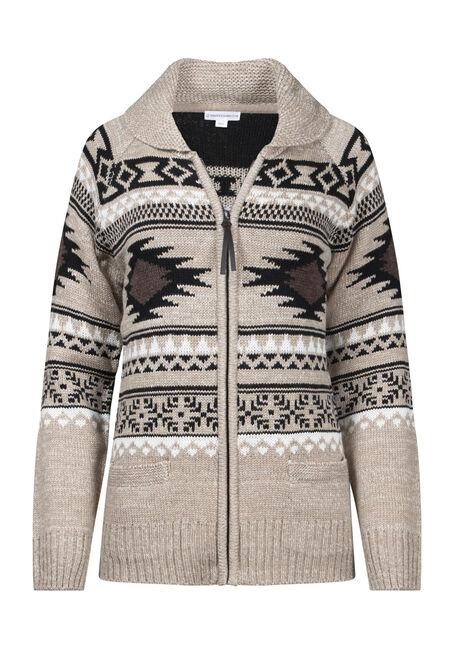 Women's Nordic Zip Front Cardigan