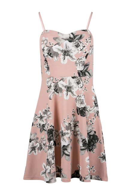 Ladies' Floral Strappy Fit & Flare Dress