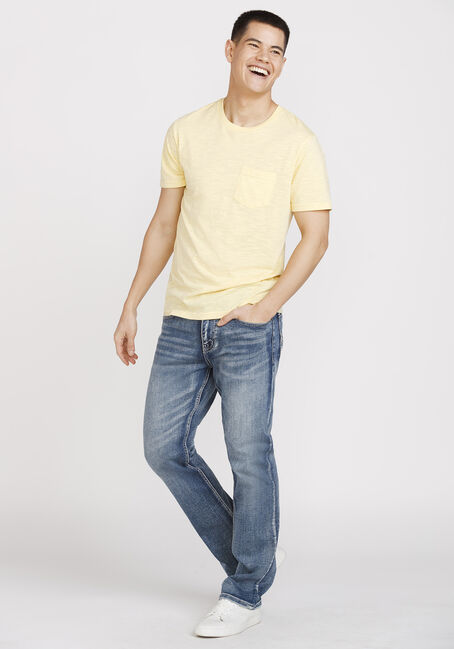 Men's Everyday Crew Neck Pocket Tee, LEMON, hi-res
