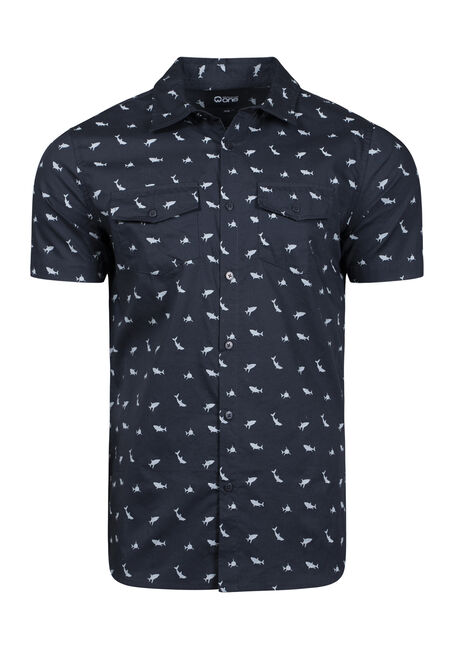 Men's Shark Print Shirt