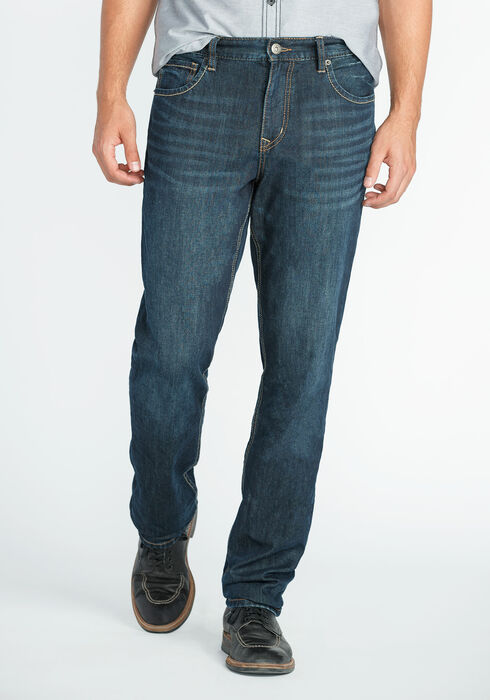 Men's Athletic Fit Jeans, DARK WASH, hi-res