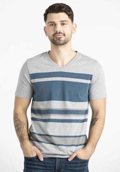 Men's Print Stripe Tee, CHARCOAL, hi-res
