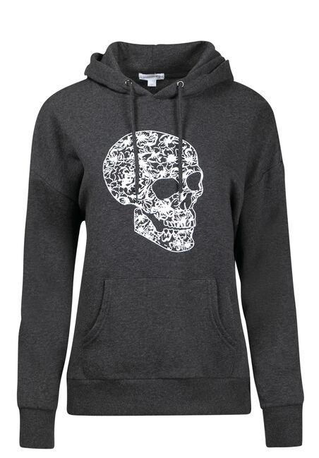 Women's Floral Skull Hoodie