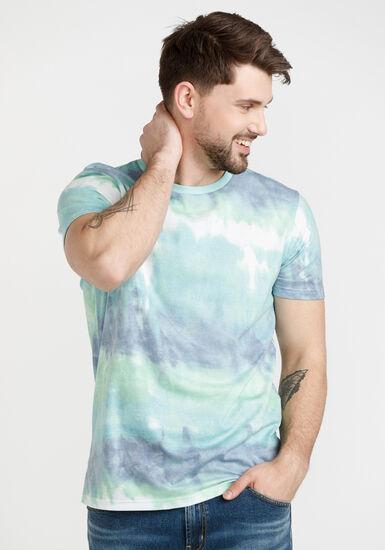 Men's Multicolour Tie Dye Tee, PANSY, hi-res